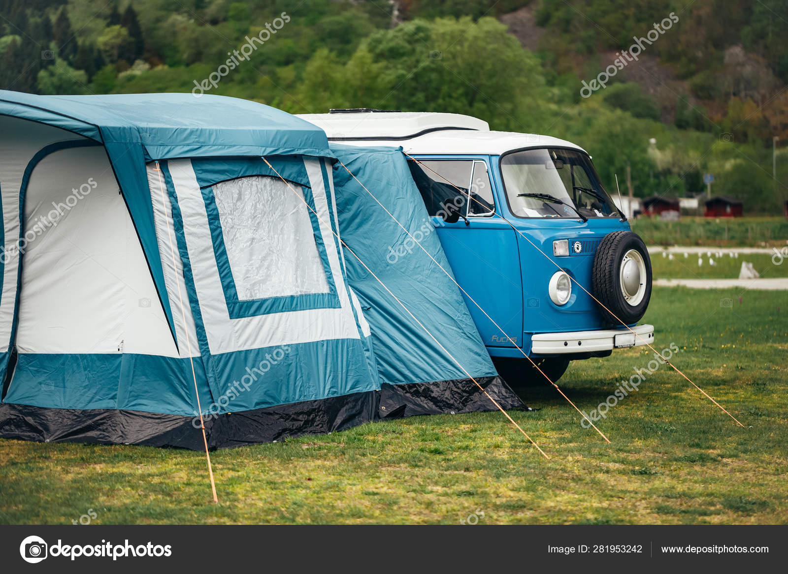 Car Hippie Tent Camping Stock Photo C Smarfik 281953242