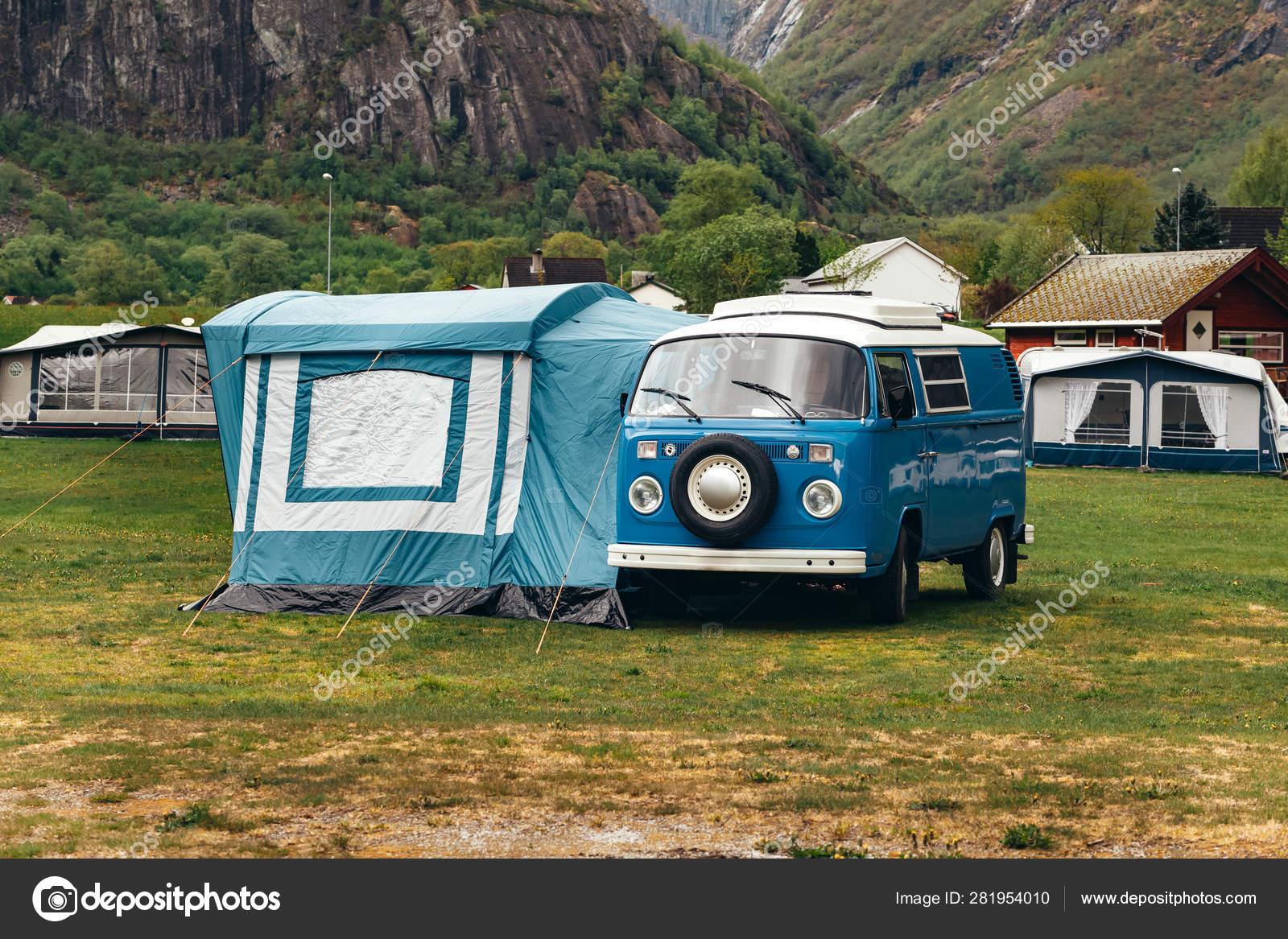Car Hippie Tent Camping Stock Photo C Smarfik 281954010