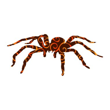 Spider monster pattern silhouette ancient mythology fantasy