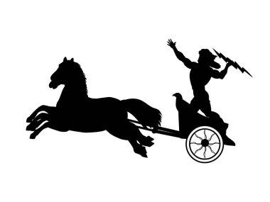 Zeus Jupiter god chariot lightning silhouette ancient mythology fantasy