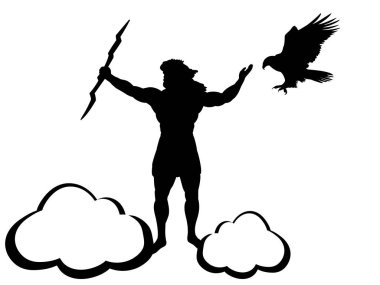 Zeus Jupiter god eagle silhouette ancient mythology fantasy