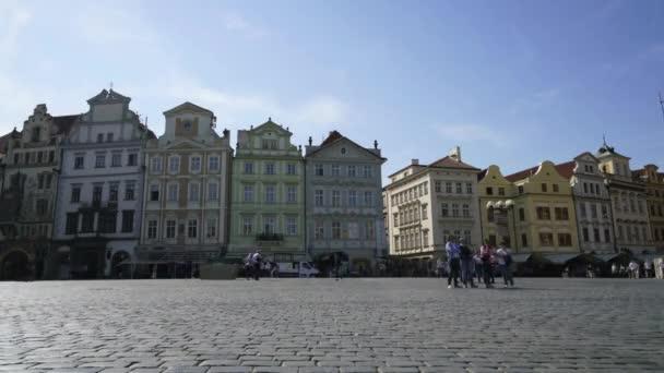 Praha, Česká republika. Květen 2018. Časová prodleva zobrazit staré náměstí v Praze, Česká republika