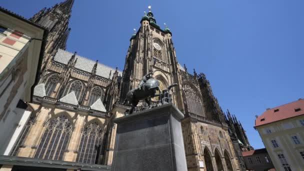 Praha, Česká republika. Květen 2018. Pohled z katedrály svatého Víta v Praze, Česká republika