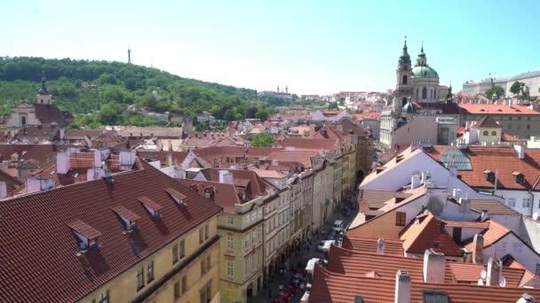 Praha, Česká republika. Květen 2018. Panoramatický pohled z katedrály svatého Víta v Praze, Česká republika