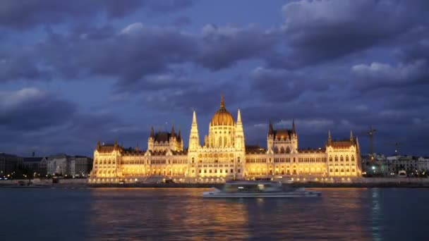 Budapest, Hungary. July 2018. A view of Parliament palace in Budapest from Danube river in Budapest,