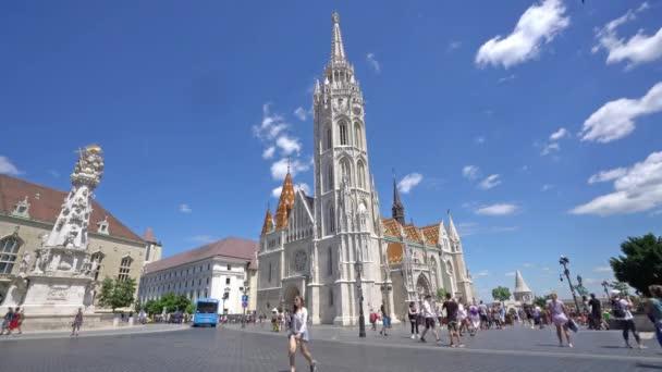 Budapest, Magyarország. Július 2018. Nézd a Mátyás-templom, a Várnegyedben Budapesten
