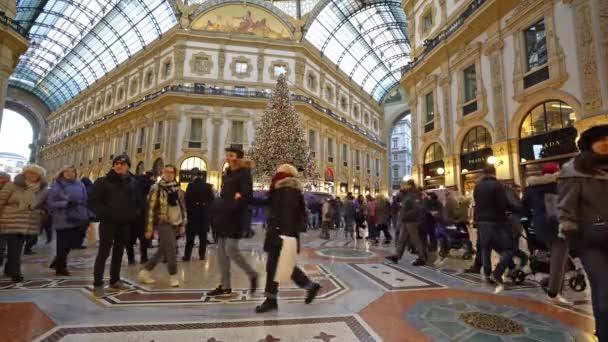 Milan, Italy. January 2, 2019. Vittorio Emanuele II Gallery in Milan