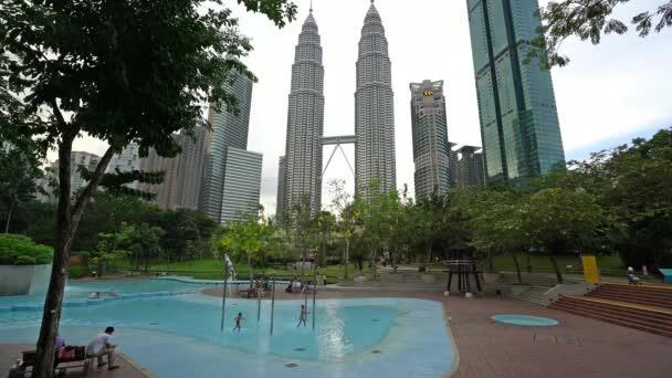 Kuala Lumpur Malaysia January 2019 A Pool In The Klcc Park In Kuala Lumpur Malaysia