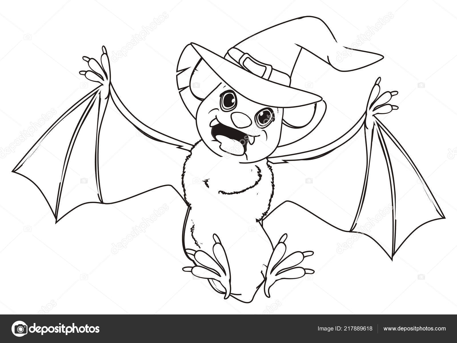 Coloring Crazy Bat Hat Stock Photo C Tatty77tatty 217889618