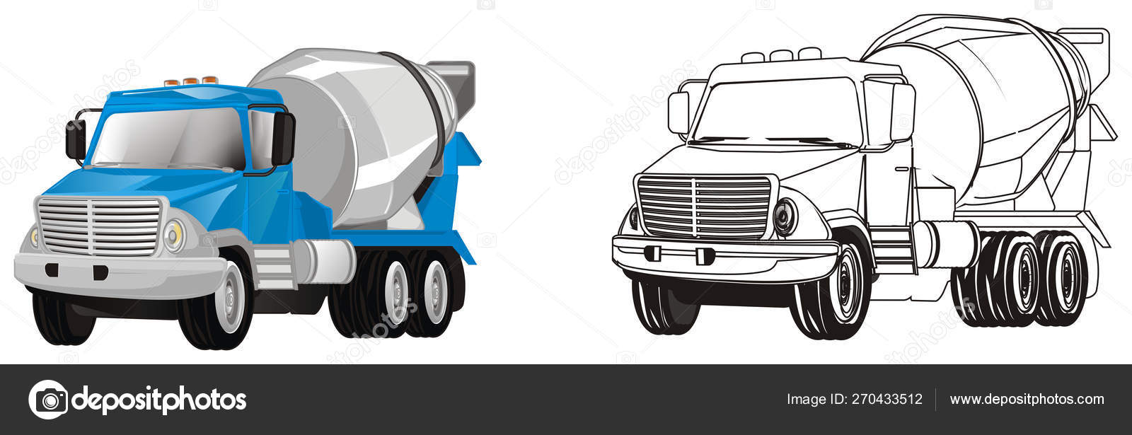 Colored Coloring Cement Trucks — Stock Photo © tatty77tatty ...