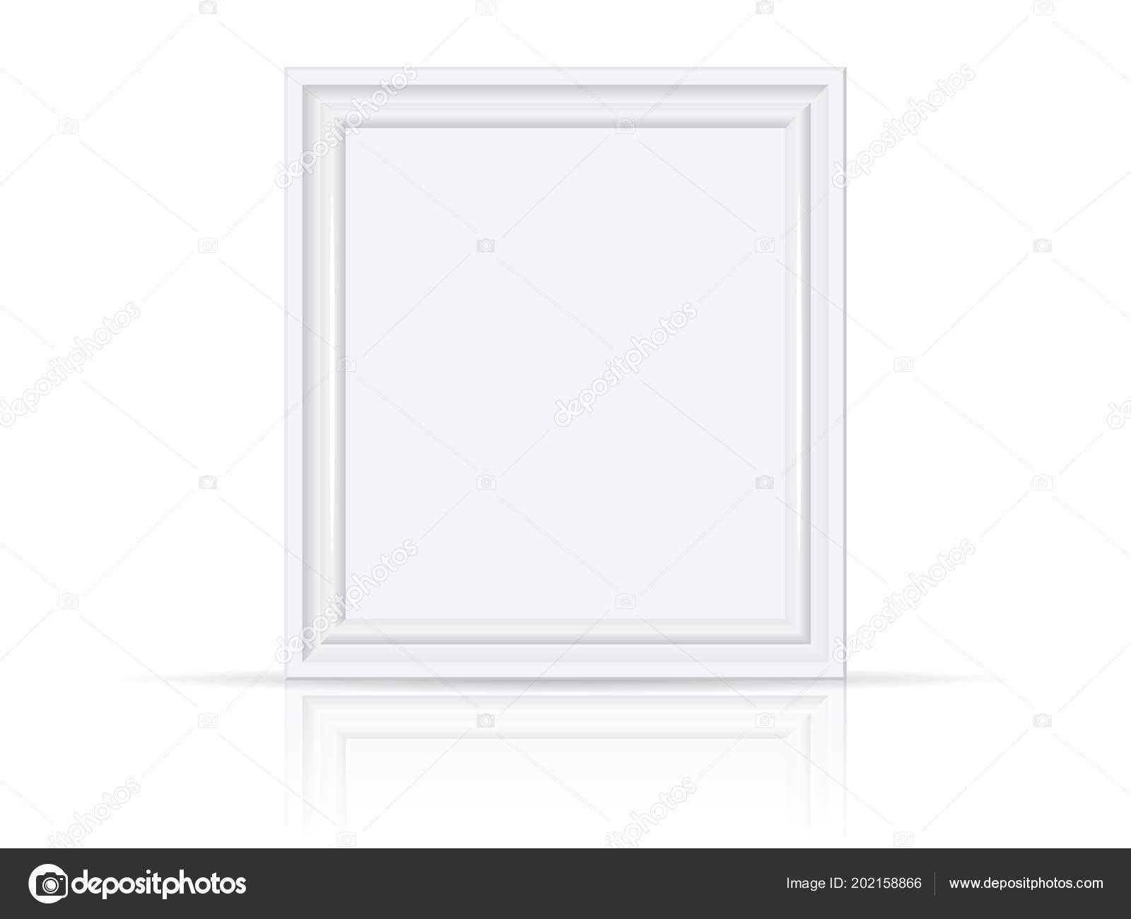White Wooden Plastic Frame Easy Change Colors Mock Vector Template ...