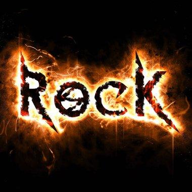 Tasarım yanma ile rock poster