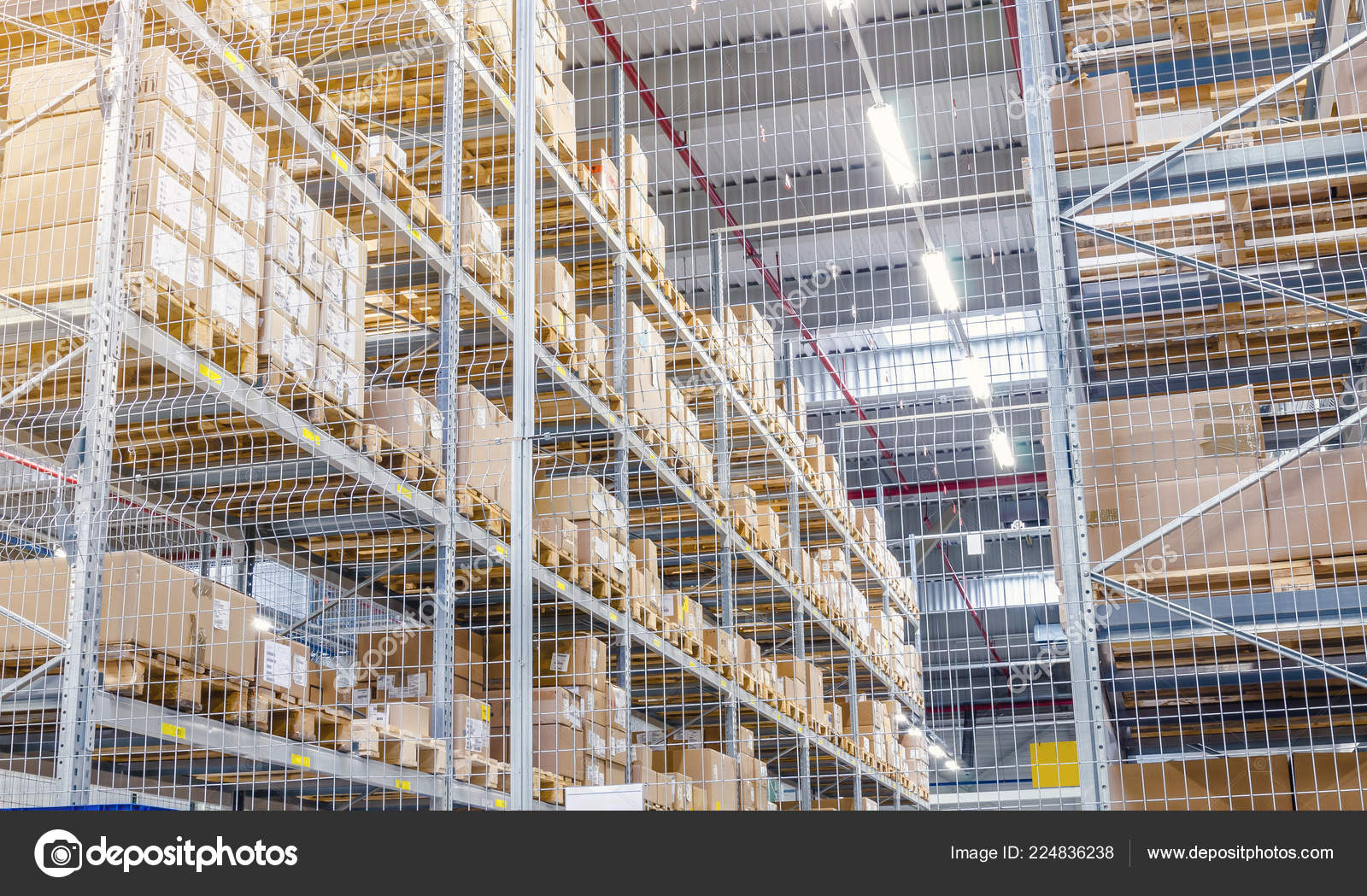 Storage industrial steel mesh, except reinforcing