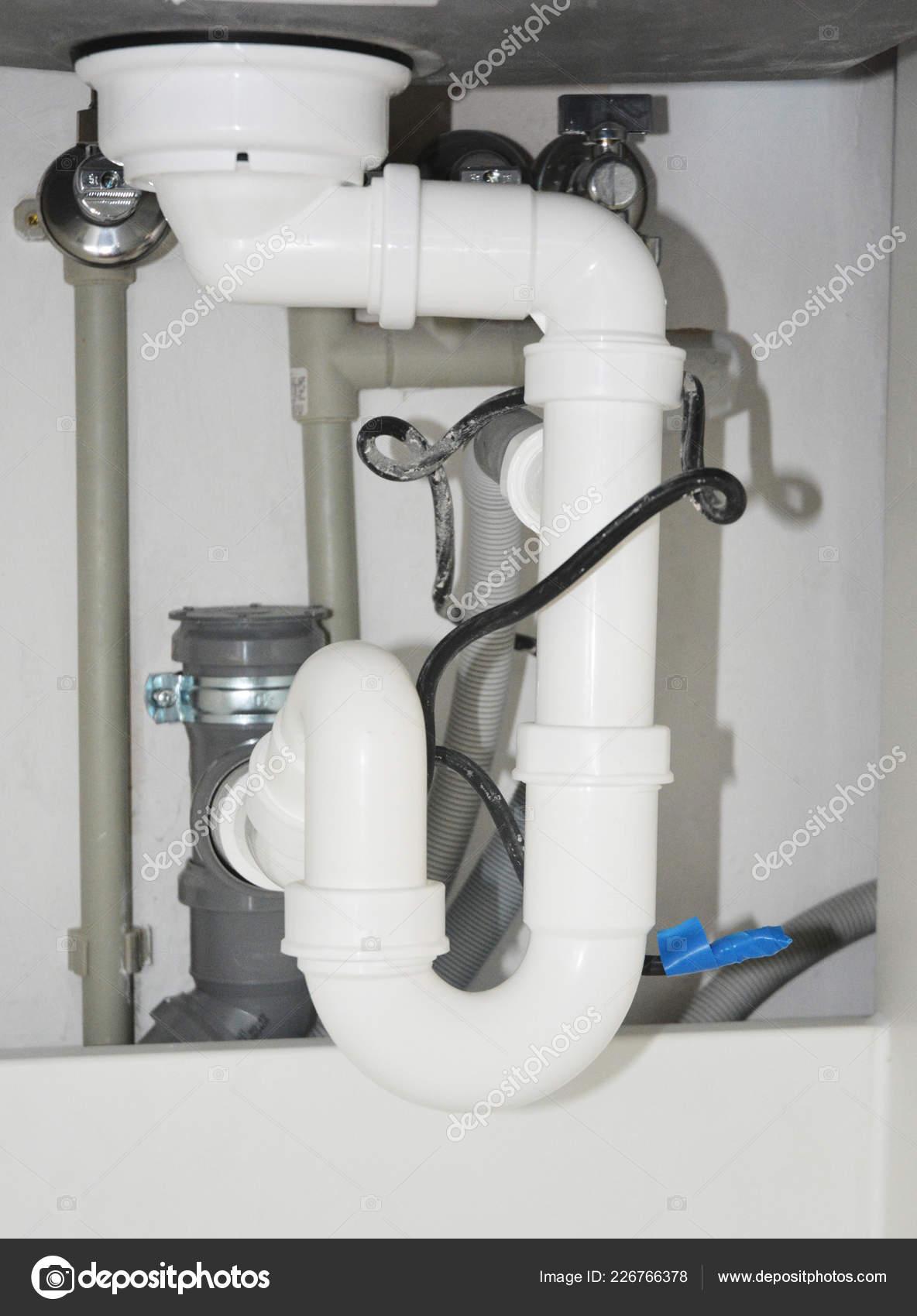 Close Ceramic Kitchen Sink Installation Sink Drain Tubes ...