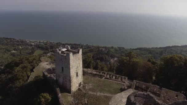 Wonderful view of Anacopia fortress and Black Sea on sunny summer day