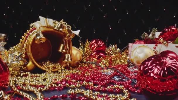 Macro view of festive New Years decor, ornament full of Christmas spirit.