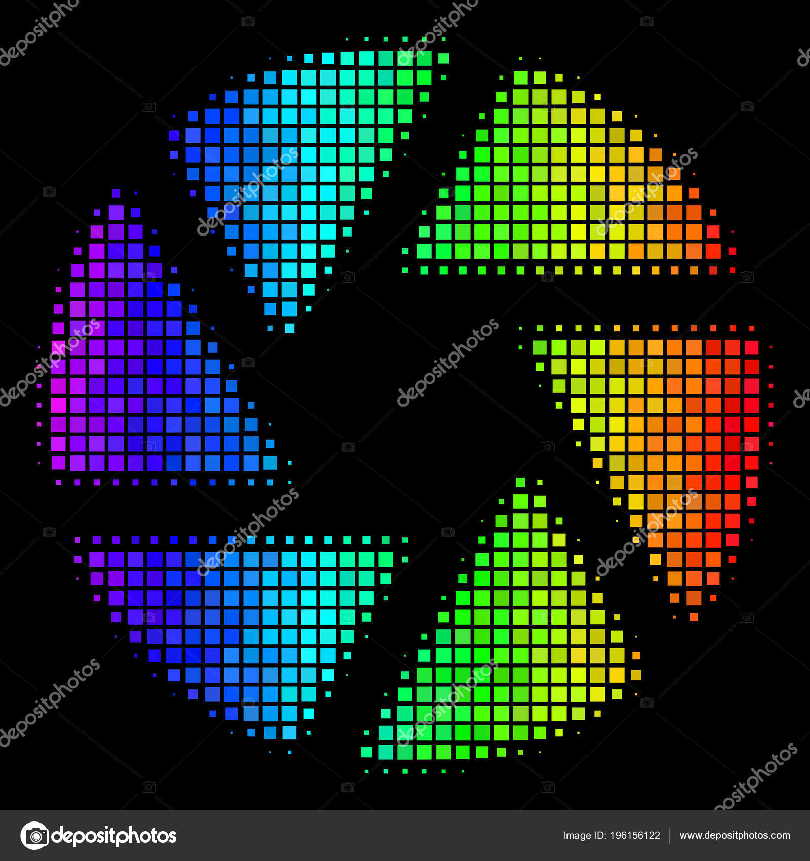 Colored Pixel Shutter Icon Stock Vector C Ahasoft 196156122