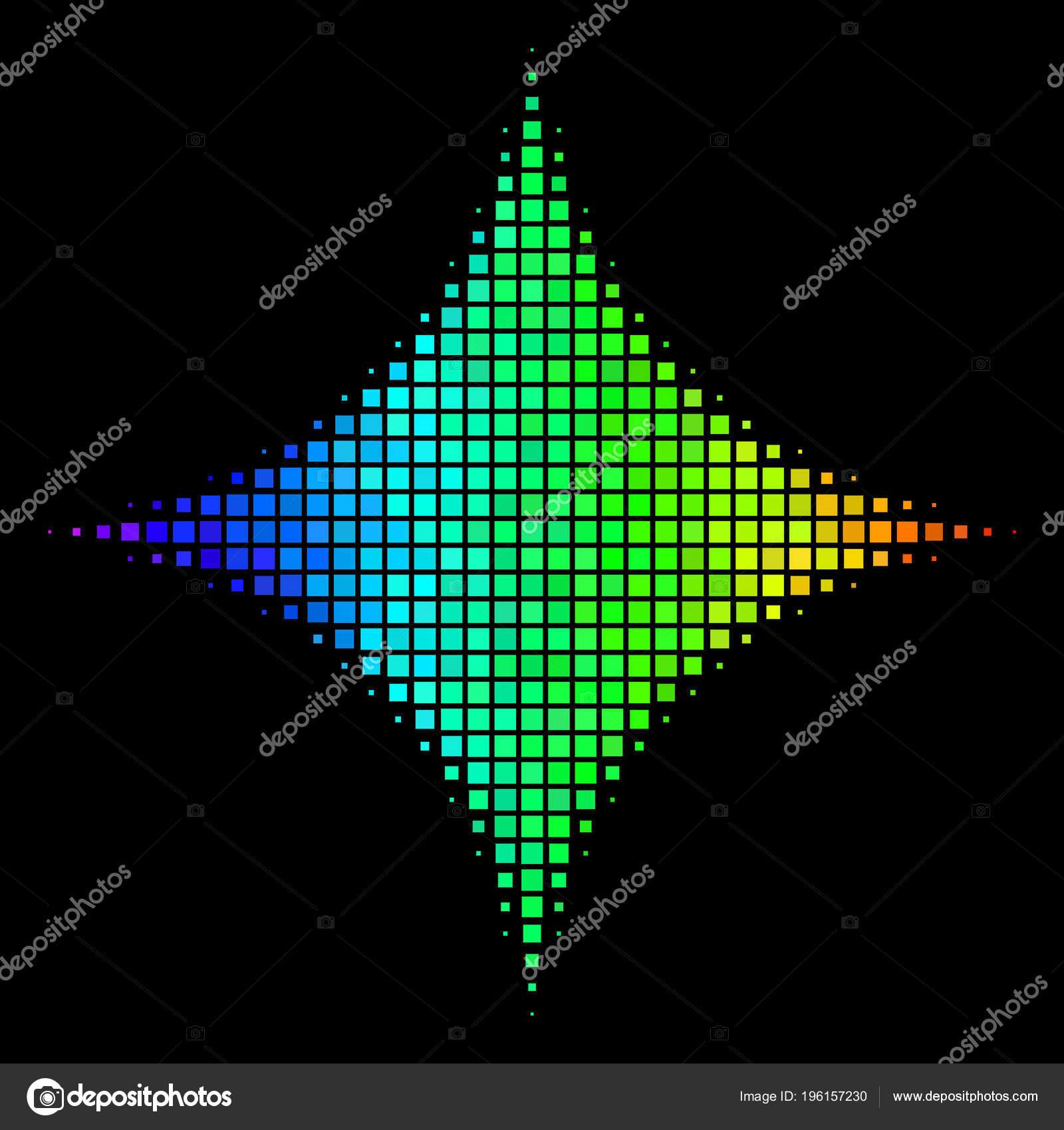 Arc En Ciel Pixel Sparkle Icône étoile Image Vectorielle