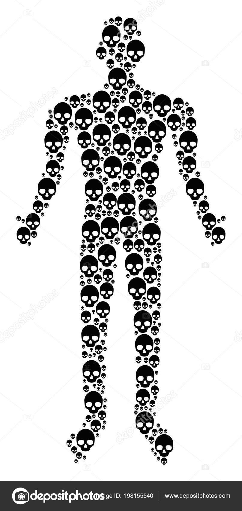 Figura humana calavera — Vector de stock © ahasoft #198155540