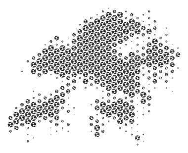 Football Ball Hong Kong Map Mosaic