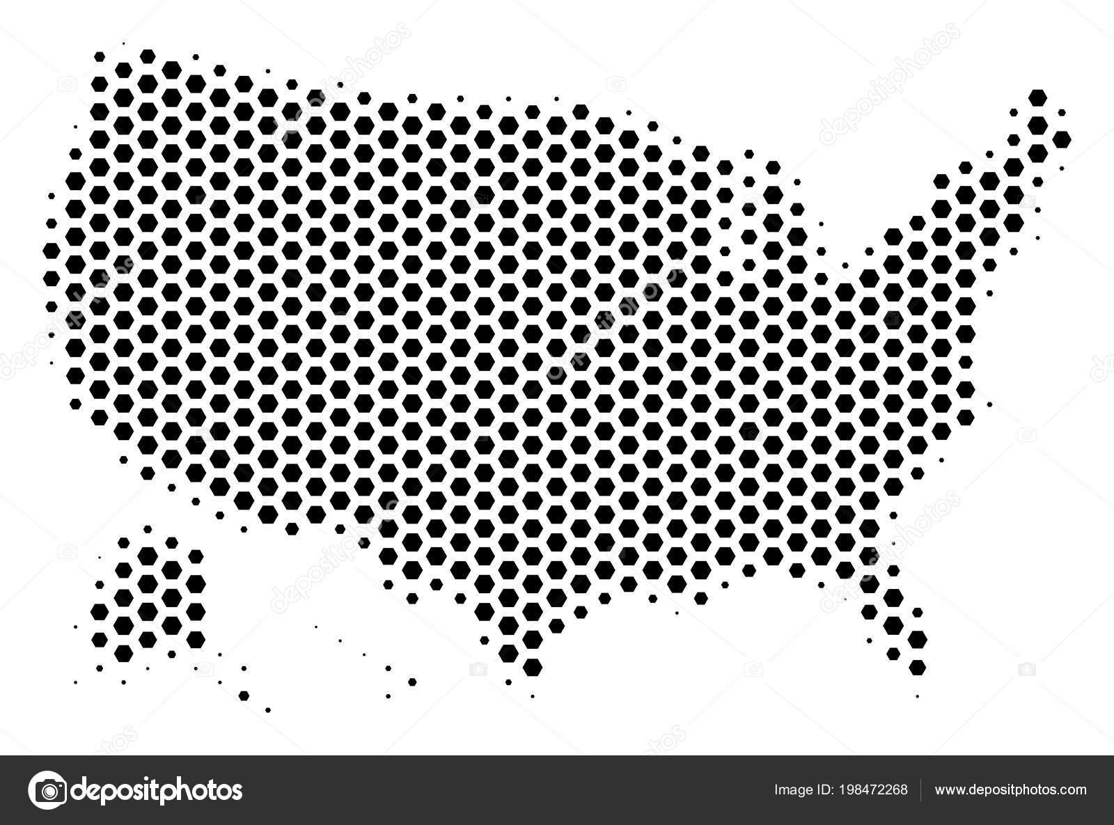 Hex Tile USA With Alaska Map — Stock Vector © ahasoft #198472268