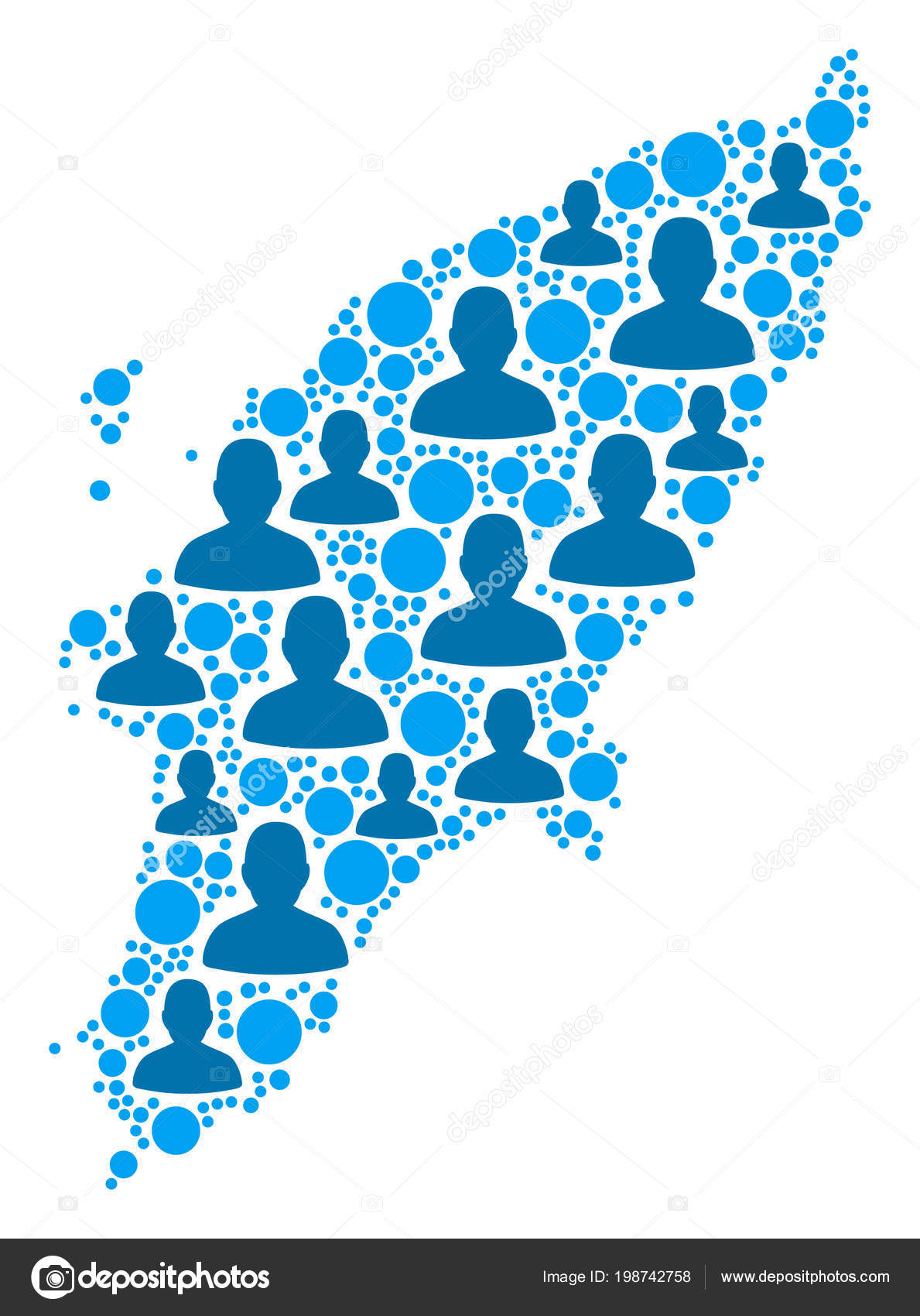 Rhodos Karte.Griechische Insel Rhodos Karte Bevölkerung Demographie Stockvektor