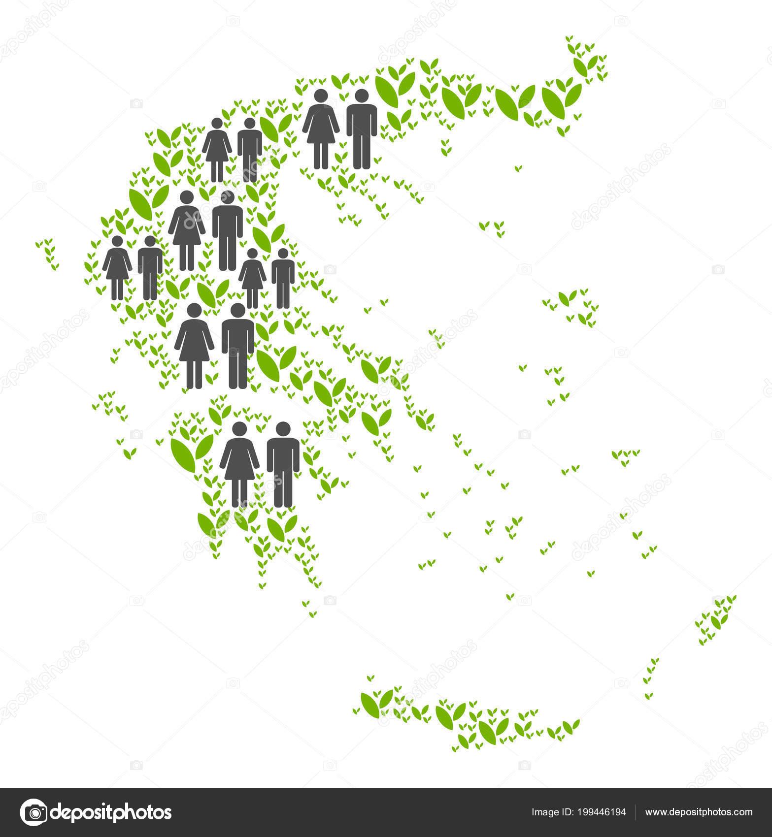 Demographics Greece Map — Stock Vector © ahasoft #199446194