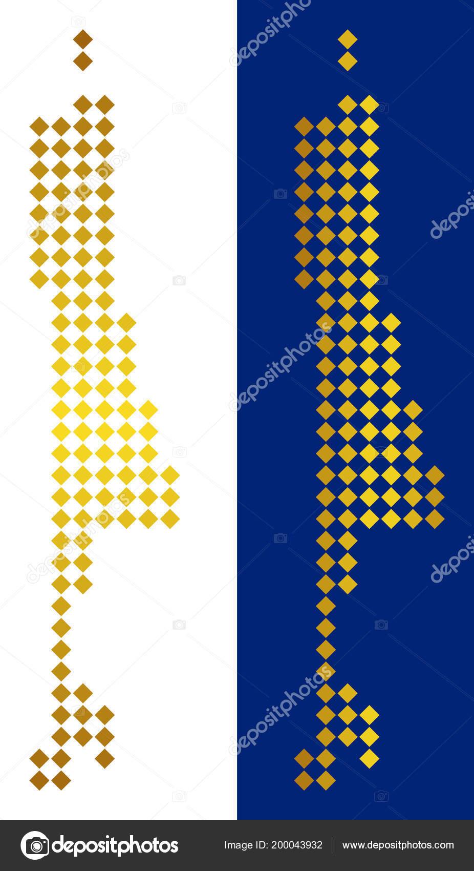 Golden Dotted Sakhalin Island Map — Stock Vector © ahasoft ...