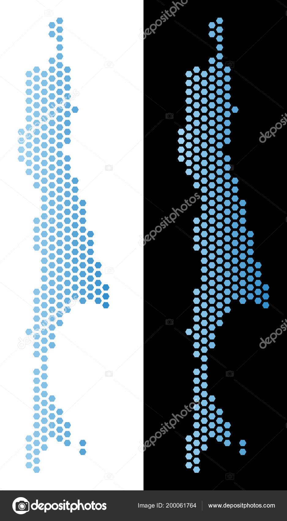 Sakhalin Island Map Hexagon Mosaic — Stock Vector © ahasoft ...