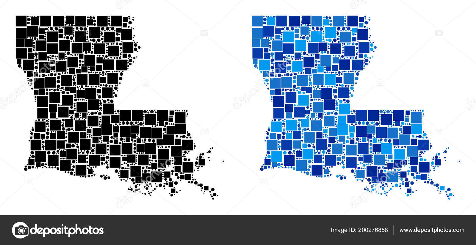 Dot Louisiana State Map with Blue Version — Stock Vector © ahasoft ...