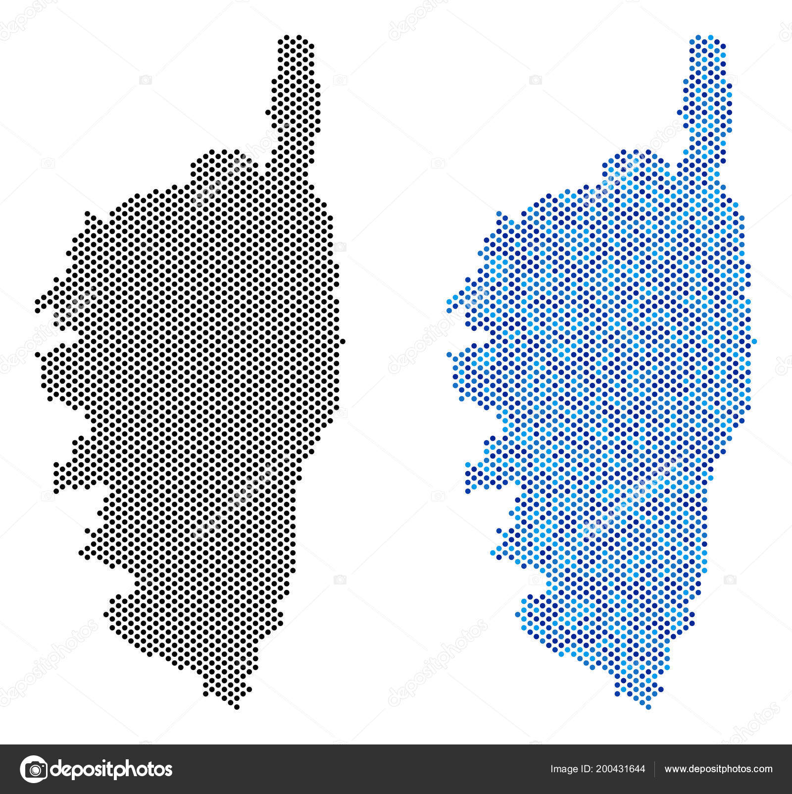 Map Of France And Corsica.Dot Corsica France Island Map Abstractions Stock Vector C Ahasoft