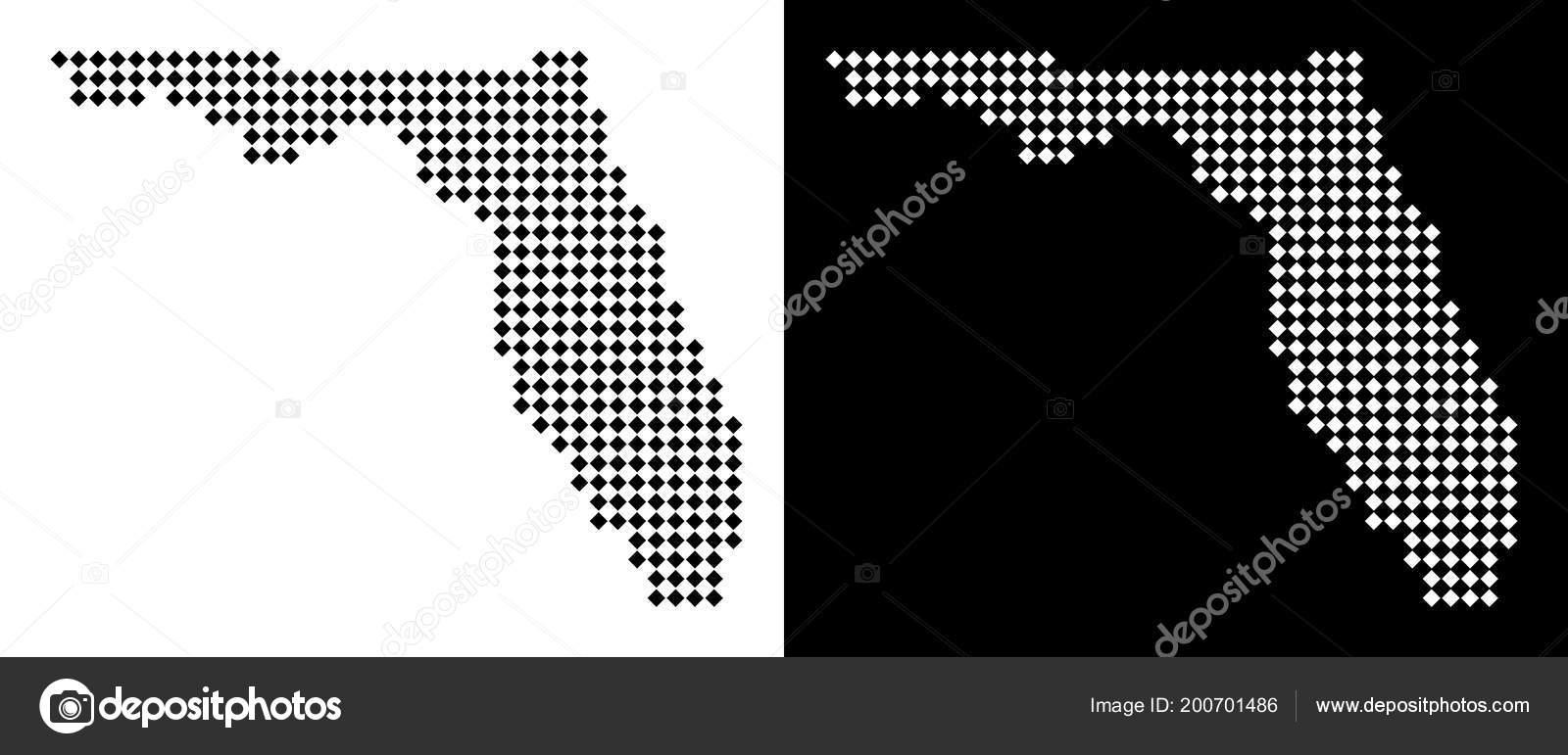 Pixel Florida Map Stock Vector C Ahasoft 200701486