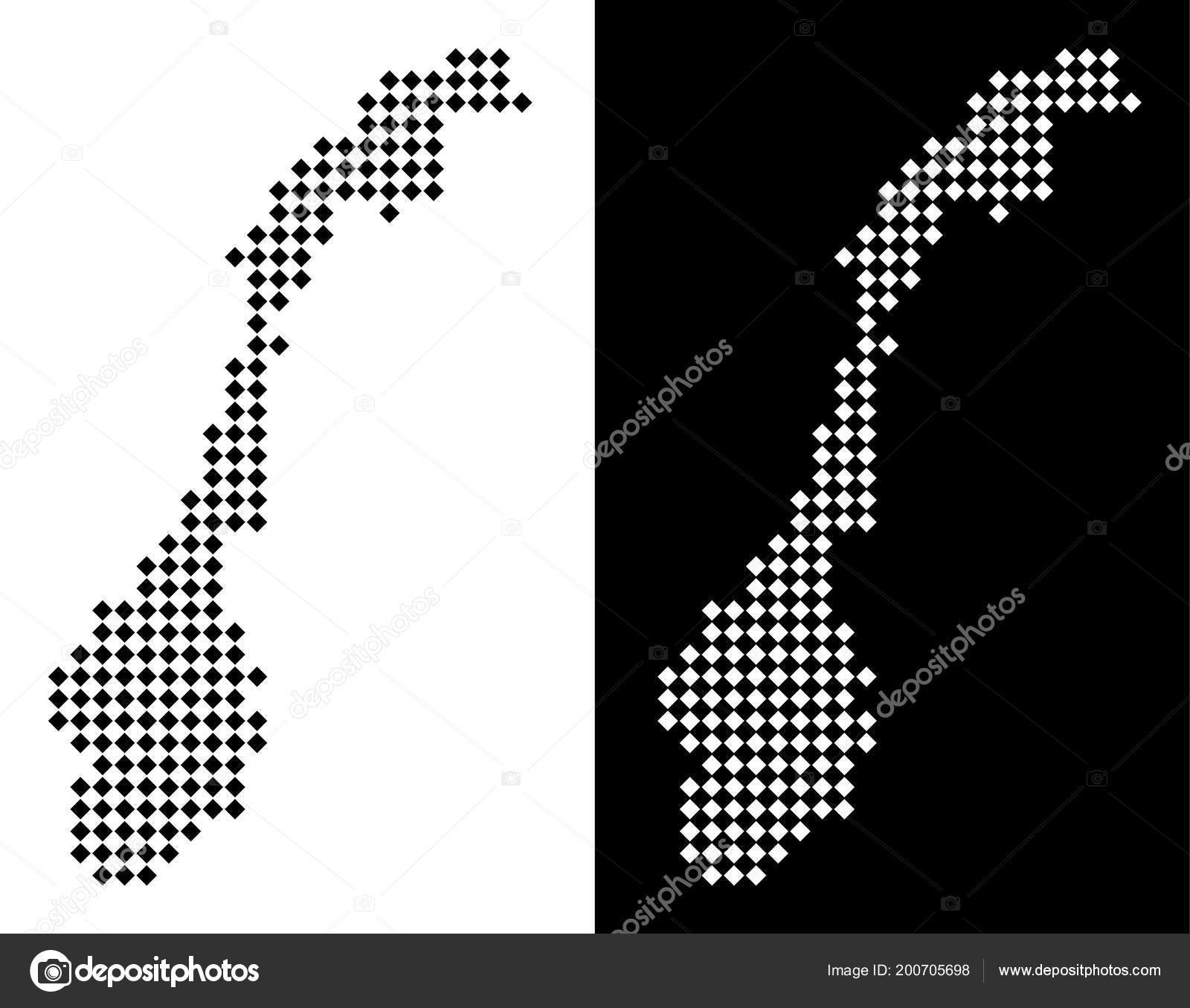 Abstract Geographic Maps In Black And White Colors On White
