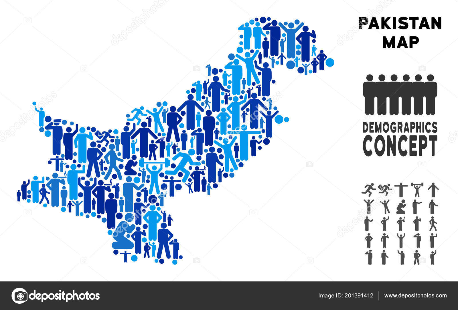 demographic trends of pakistan Note: provisional results of pakistan's 2017 national census estimate the country's total population to be 207,774,000 age structure 0-14 years: 3136% (male 33,005,623/female 31,265,463.