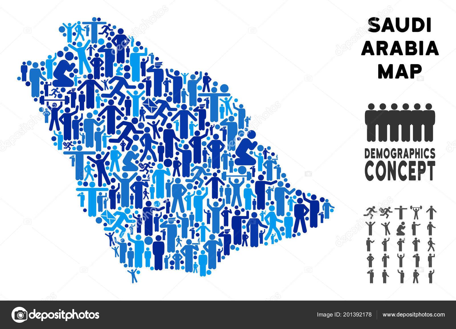 Demographics Saudi Arabia Map — Stock Vector © ahasoft