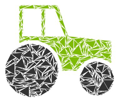 Wheeled Tractor Mosaic of Triangles