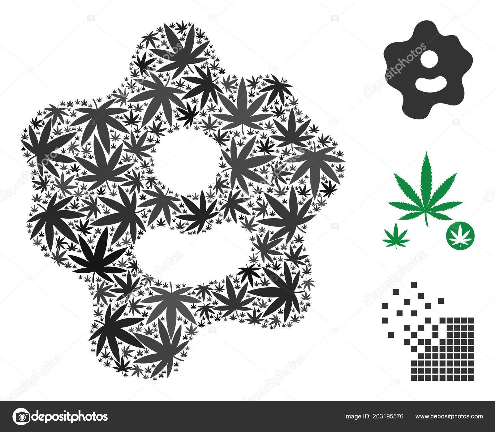 Amoeba Mosaic Of Marijuana Stock Vector Ahasoft 203195576