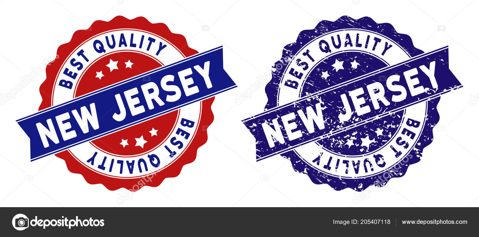 New Jersey State Best Quality Stamp with Distress Texture