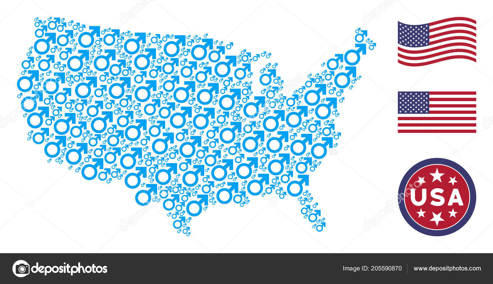 Us Map Photo Collage.United States Map Collage Of Mars Symbol Stock Vector C Ahasoft