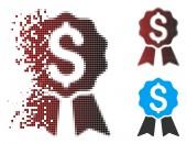 Sparkle Pixel Halftone Banking Award Icon