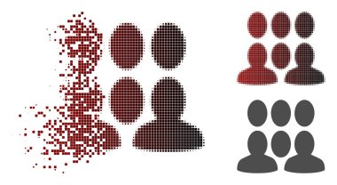 Disintegrating Dot Halftone Auditory Icon