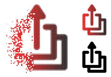 Damaged Pixelated Halftone Uploads Icon