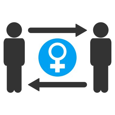 Swingers Exchange Female Vector Icon