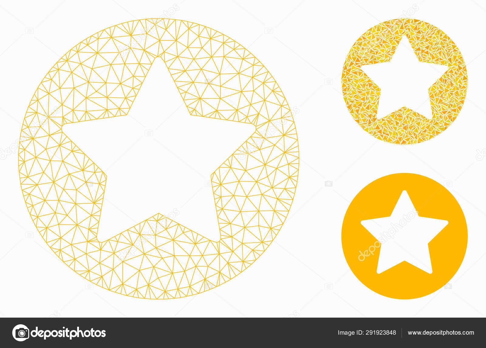 ilmainen toimitus tukkukauppa uusi korkealaatuinen Rounded Star Vector Mesh Carcass Model and Triangle Mosaic ...