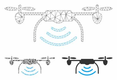 Radio Transmitter Airdrone Vector Mesh Network Model and Triangle Mosaic Icon