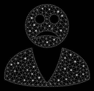 Glossy Mesh 2D Sad User with Flare Spots