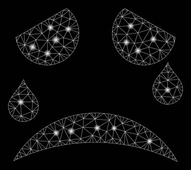 Glowing Mesh Carcass Tears Smiley with Light Spots