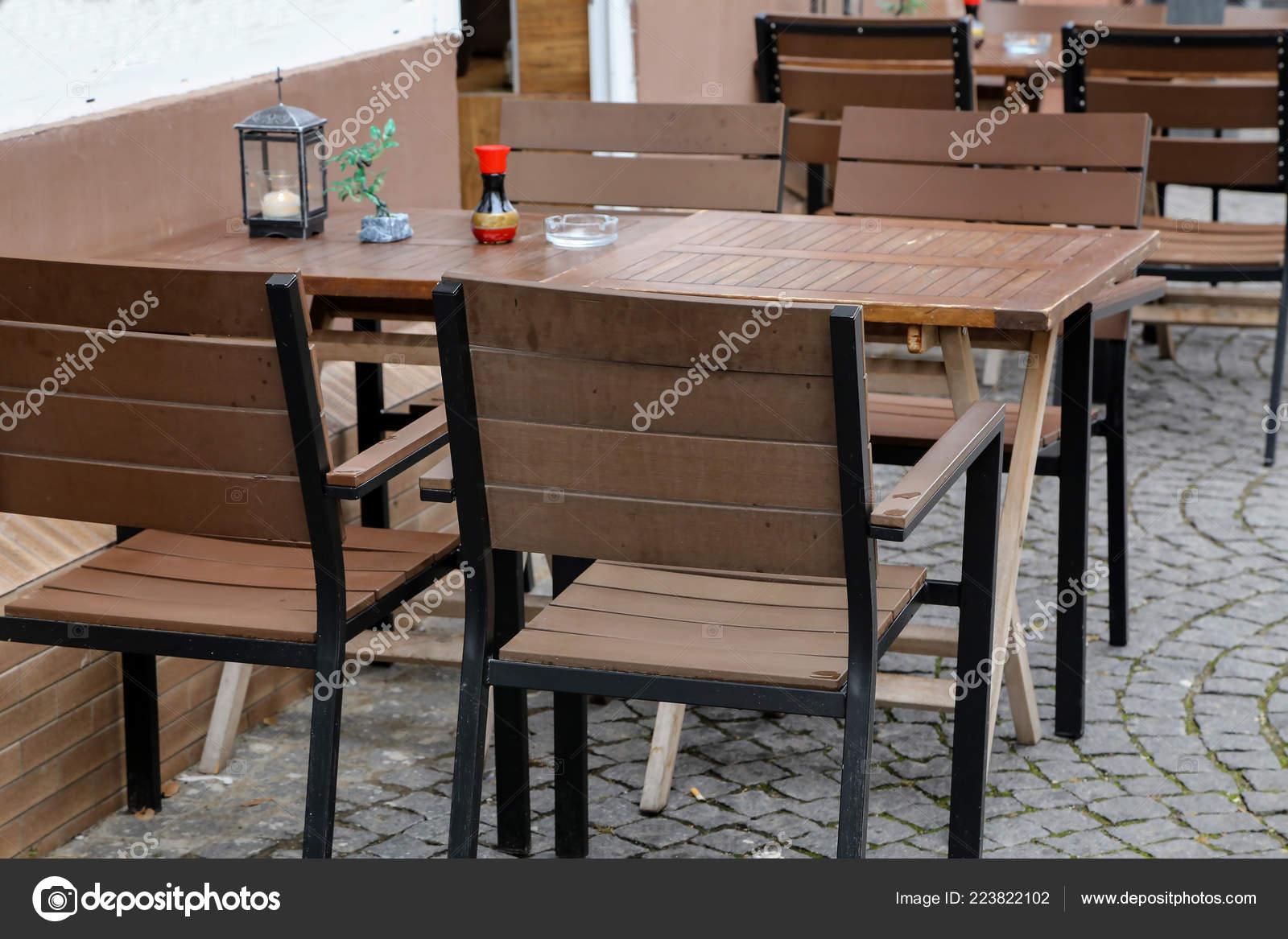 Cozy Street Restaurant Tables Chairs Street Stock Photo C Malleo 223822102