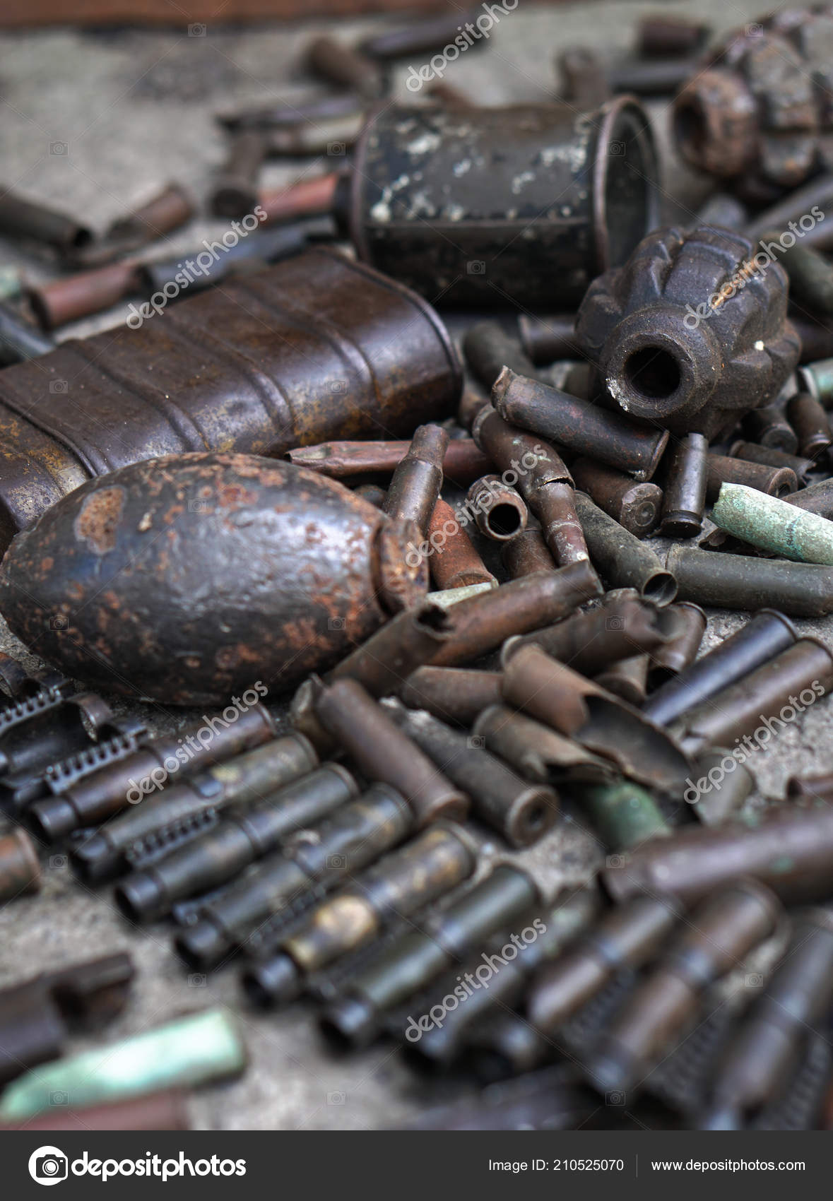 Military Background Cartridges Grenades Machine Gun Tape