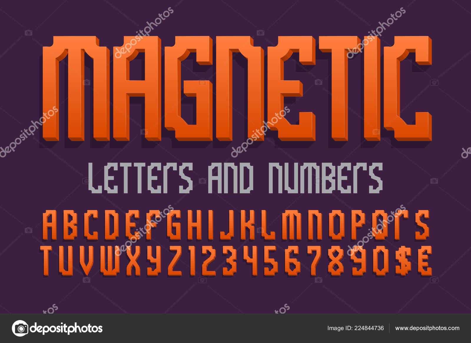 Magnetická písmena a čísla měny zvěrokruhu. Oranžová 3d písmo. Izolované  anglická abeceda– stock ilustrace 7ee8e37d99e